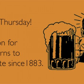Thirsty Thursday! Sept. 4