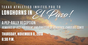 Texas Athletics Pep Rally Nov. 8